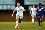 16 October 2015: North Carolina's Summer Green (6) and Duke's Toni Payne (10). The University of North Carolina Tar Heels hosted the Duke University Blue Devils at Fetzer Field in Chapel Hill, NC in a 2015 NCAA Division I Women's Soccer game. Duke won the game 1-0.