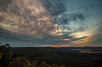 Sunset at Petit Jean State Park.