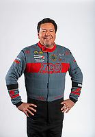Feb 5, 2020; Pomona, CA, USA; NHRA funny car driver Cruz Pedregon poses for a portrait during NHRA Media Day at the Pomona Fairplex. Mandatory Credit: Mark J. Rebilas-USA TODAY Sports
