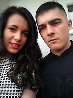 "Pictured: David Campbell (also known as David Chalmers) with girlfriend Shanice Brookes who live in the house on Raffles Road, Birkenhead, where armed police have placed a containment on a terraced house<br /> Re: Armed police have been called to a disturbance at a house on Merseyside.<br /> A large number of officers have surrounded the home in Raffles Road, Birkenhead and have closed the road to traffic.<br /> Merseyside Police described the situation as an ""ongoing police incident"" but declined to give further details.<br /> A force spokesman confirmed police arrived at about 08:10am. An ambulance is also in attendance."