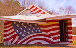 Poconos, Northeast Pennsylvania, White Haven, Middleburg Road, Painted Flags