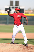 Yonata Ortega, Arizona Diamondbacks 2011 spring training workouts at the Diamondbacks new training complex at Salt River Fields at Talking Stick, Scottsdale, AZ - 02/14/2011.Photo by:  Bill Mitchell/Four Seam Images.
