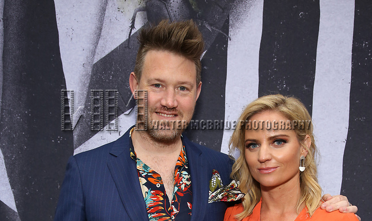 "Eddie Perfect and Lucy Cochran attends the Broadway Opening Night Performance for ""Beetlejuice"" at The Wintergarden on April 25, 2019  in New York City."