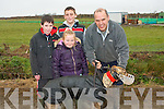 READY:Getting their greyhound ready for the Ballyduff Coursing on Saturday were: Tommy, Aoife and Gordan O'Connor and Gavin White...   Copyright Kerry's Eye 2008