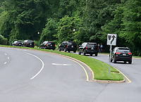 The motorcade carrying United States President Donald J. Trump departs the Trump National Golf Club in Sterling, Virginia on Saturday, May 11, 2019.  <br /> CAP/MPI/CNP/RS<br /> &copy;RS/CNP//MPI/Capital Pictures