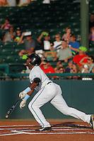 Daytona Tortugas outfielder Philip Ervin (6) at bat during a game against the Tampa Yankees at Radiology Associates Field at Jackie Robinson Ballpark on June 13, 2015 in Daytona, Florida. Tampa defeated Daytona 8-6. (Robert Gurganus/Four Seam Images)