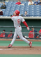 May 5, 2004:  /2b/ Chase Utley (6) of the Scranton-Wilkes Barre Red Barons, Class-AAA International League affiliate of the Philadelphia Phillies, during a game at P&C Stadium in Syracuse, NY.  Photo by:  Mike Janes/Four Seam Images