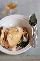 Europe/France/Midi-Pyrénées/82/Tarn-et-Garonne/Saint-Étienne-de-Tulmont: Préparation du  Foie gras de Canard  //  <br /> Europe / France / Midi-Pyrénées / 82 / Tarn-et-Garonne / Saint-Étienne-de-Tulmont: Preparation of Duck Foie Gras