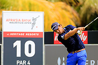 Roman Langasque (FRA) in action during the third round of the Afrasia Bank Mauritius Open played at Heritage Golf Club, Domaine Bel Ombre, Mauritius. 02/12/2017.<br /> Picture: Golffile | Phil Inglis<br /> <br /> <br /> All photo usage must carry mandatory copyright credit (&copy; Golffile | Phil Inglis)
