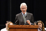 Former President Bill Clinton spoke to Fayette County students about Earth-Day related topics and sustainability issues at Rupp Arena in Lexington, Ky., on 4/23/12.  Photo by Mike Weaver | Staff
