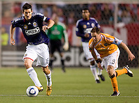 CD Chivas USA forward Sacha Kljestan (16) leading the charge. The Houston Dynamo defeated CD Chivas USA 2-0 at Home Depot Center stadium in Carson, California on Saturday May 8, 2010.  .