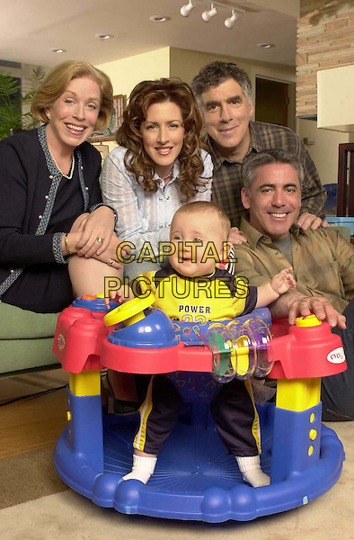 JOELY FISHER, ELLIOTT GOULD, ADAM ARKIN & HOLLAND TAYLOR..in Baby Bob ..First-time parents who have an extraordinary six-month-old baby with a mind-boggling talent -- he talks like an adult...Filmstill - Editorial Use Only..Ref: FB..www.capitalpictures.com..sales@capitalpictures.com..Supplied by Capital Pictures