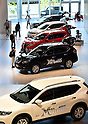 May 13, 2015, Yokohama, Japan - Japans Nissan Motor forecasts net income of 485 billion yen in the current year ending March 31, 2016, from 457.6 billion yen a year earlier.  (Photo by Natsuki Sakai/AFLO)