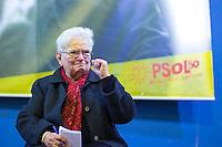 SÃO PAULO, SP, 11.06.2016 -ELEIÇÕES-2016 - Luiza Erundina durante pré-candidatura a prefeitura de São Paulo na sede do Sindicato dos Bancários de São Paulo (SP) neste sábado, 11. (Foto: Adailton Damasceno/Brazil Photo Press)