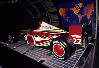July 9 1999 file Photo - Montreal, Quebec, CANADA - Formula One driver Jacques Villeneuve's car at the news conference  for BAR team
