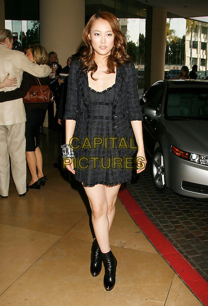 RINKO KIKUCHI.79th Annual Academy Awards Nominees Luncheon held at the Beverly Hilton Hotel, Beverly Hills, California, USA..February 5th, 2007.full length black dress ankle boots bracelet bangles.CAP/ADM/RE.©Russ Elliot/AdMedia/Capital Pictures