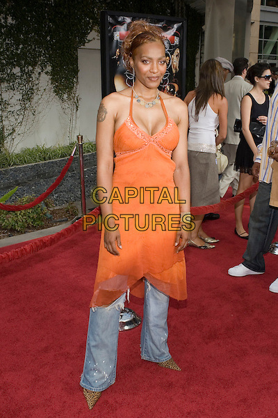 "NONA GAYE.At the ""Hustle & Flow"" Los Angeles Film Premiere,.held at the Arclight Cinerama Dome, .Hollywood, California, USA, 20th July 2005..full length orange dress over jeans.Ref: ADM.www.capitalpictures.com.sales@capitalpictures.com.©Zach Lipp/AdMedia/Capital Pictures."