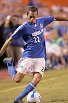 Aug 19 2007:  Davy Arnaud (22) of the Wizards.  The MLS Kansas City Wizards were defeated by the visiting New England Revolution 0-1 at Arrowhead Stadium in Kansas City, Missouri, in a regular season league soccer match.