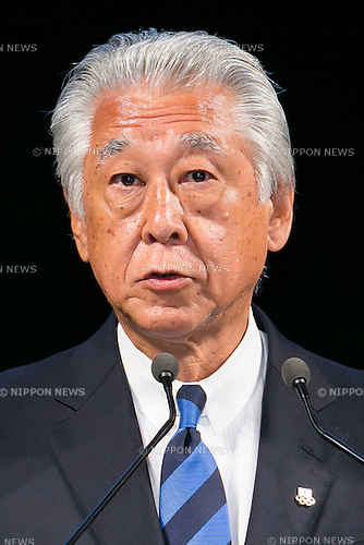 Japan Sailing Federation (JSAF) chairman Hirobumi Kawano speaks during a news conference on June 1, 2016, Tokyo, Japan. The American's Cup Event Authority, Fukuoka City, Japan SoftBank Group Corp. (SBG) and the JSAF announced that the ninth race of the the Louis Vuitton America's Cup World Series (LVACWS) will be held in Fukuoka, the fifth largest city in Japan, from November 18 to 20, 2016. Fukuoka will be the first city to host the LVACWS in Asia since the competition started in 1851. The race is part of the qualifiers for the 35th America's Cup 2017. (Photo by Rodrigo Reyes Marin/AFLO)