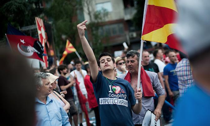 Am Sonntag, 17. Mai, demonstrierten in Skopje 40.000 Menschen gegen die Regierung von Premier Nikola Gruevski. / On Sunday, 17th May, 40 000 people protested against the government of premier Nikola Gruevski.