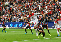 Andre Hoffmann (Fortuna Düsseldorf) klärt in letzter Sekunde - 01.09.2019: Eintracht Frankfurt vs. Fortuna Düsseldorf, Commerzbank Arena, 3. Spieltag<br /> DISCLAIMER: DFL regulations prohibit any use of photographs as image sequences and/or quasi-video.