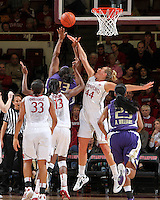 STANFORD, CA - January 21, 2012: Stanford Cardinal's Joslyn Tinkle during Stanford's 65-47 victory over Washington at Maples Pavilion.