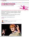 James Acaster, Fosters Comedy Award Nominee, Guardian, 17.08.14