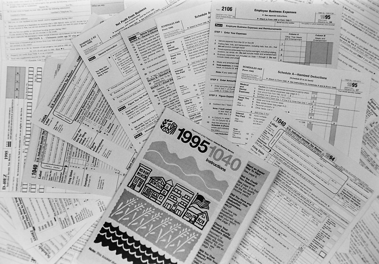 Tax forms. (Photo by Maureen Keating/CQ Roll Call via Getty Images)