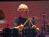 Cream - Eric Clapton , Jack Bruce, Ginger Baker - performing live at their Reunion concert at Madison Square Garden Oct 25, 2005  Photo by David Plastik/AtlasIcons.com