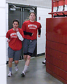 ?, Sarah Appleton (BU - 16) - The Northeastern University Huskies defeated the Boston University Terriers in a shootout after being tied at 4 following overtime in their Beanpot semi-final game on Tuesday, February 2, 2010 at the Bright Hockey Center in Cambridge, Massachusetts.