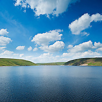 Scenic view of Claerwen Reservoir, Eland Valley, Powys, Wales