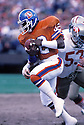 Denver Broncos Vance Johnson(82) in action during a game against San Francisco 49ers from the 1985 season. Vance Johnson played for 10 years all with the Broncos.David Durochik/SportPics