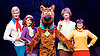 Scooby-Doo! Live Musical Mysteries <br /> at The Palladium, London, Great Britain <br /> press photocall <br /> 17th August 2016 <br /> <br /> Chris Warner Drake as Fred <br /> Rebecca Withers as Velma<br /> Joe Goldie as Scooby-Doo <br /> Charlie Haskins as Shaggy<br /> Charlie Bull as Daphne <br /> <br /> <br /> Photograph by Elliott Franks <br /> Image licensed to Elliott Franks Photography Services