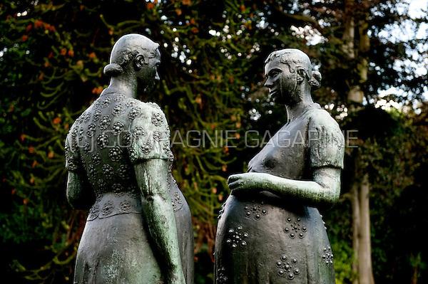 The Middelheim Museum in Antwerp, an open-air museum of modern and contemporary sculptures (Belgium, 04/09/2008)