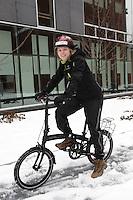 File photo - veronique Arsenault, coordon?natrice de projets &agrave; ENvironnement JEUnesse.<br /> <br /> Parmi les projets mis de l&rsquo;avant par l&rsquo;organisme, il y a 2 roues, 4 saisons.