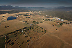 An aerial view of Middletown, California from a hot air balloon on Saturday July 14th 2012. (Photo By Brian Garfinkel)