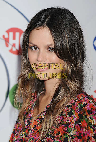 Rachel Bilson.arriving at the TCA Party for CBS, The CW and Showtime held at The Pagoda in Beverly Hills, California, USA,.August 3rd, 2011. .portrait headshot red pink floral print  beauty ombre hair highlights dip dye .CAP/ROT/TM.©TM/Roth Stock/Capital Pictures