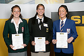 Girls Netball finalists Sally Greenwood, Amy Latu, Courtney Mita. ASB College Sport Young Sportperson of the Year Awards 2007 held at Eden Park on November 15th, 2007.