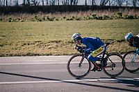 Piet Allegaert (BEL/Sport Vlaanderen-Baloise) tucked for speed<br /> <br /> 70th Kuurne-Brussel-Kuurne 2018<br /> Kuurne &rsaquo; Kuurne: 200km (BELGIUM)