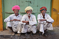 Men in turbans, Pushkar, Rajasthan, India, 2011