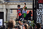 Defending Champion Greg Van Avermaet (BEL) BMC Racing Team at sign on in Compiegne before the start of the 116th edition of Paris-Roubaix 2018. 8th April 2018.<br /> Picture: ASO/Pauline Ballet | Cyclefile<br /> <br /> <br /> All photos usage must carry mandatory copyright credit (&copy; Cyclefile | ASO/Pauline Ballet)