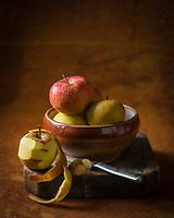 Gastronomie, Pommes // Gstronomy: Apples<br />  - Stylisme : Valérie LHOMME