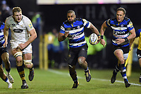 Aled Brew of Bath Rugby goes on the attack. Aviva Premiership match, between Bath Rugby and Wasps on December 29, 2017 at the Recreation Ground in Bath, England. Photo by: Patrick Khachfe / Onside Images