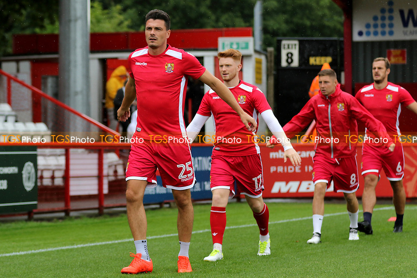 Stevenage players warm up pre-match during Stevenage vs Charlton Athletic, Friendly Match Football at the Lamex Stadium on 22nd July 2017