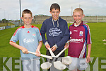 COMPETING: The students of Scoil Iognaid Ris, Dingle who won the County U14 hurling division 1 and competed in the Primary School Hurling Skills Finals at Austin Stack Park on Saturday l-r: Toma?s Sheehy, Patrick Sheehy and Cathal Sheehy.