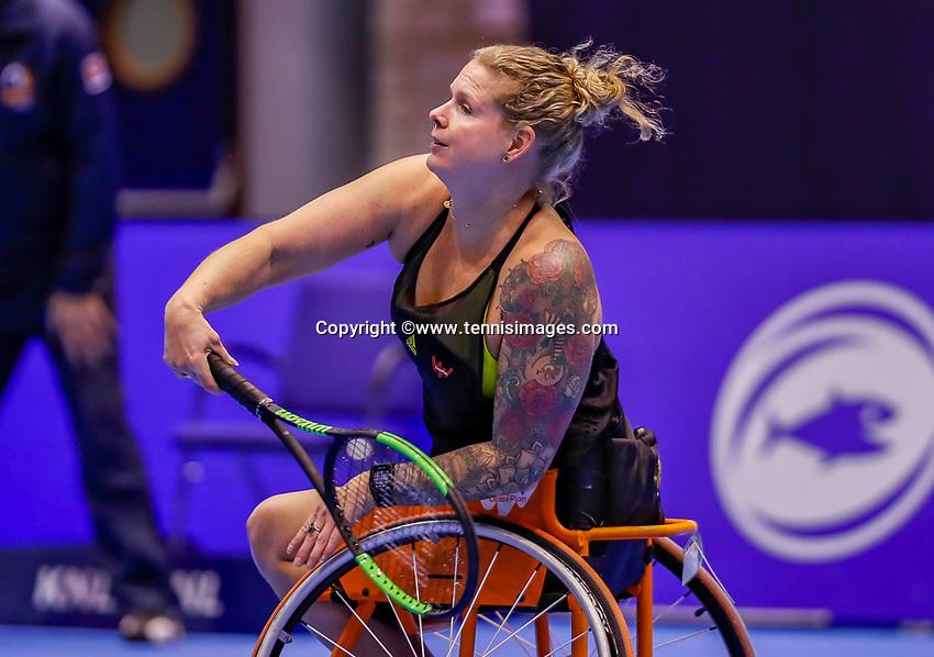 Rotterdam, Netherlands, December 13, 2017, Topsportcentrum, Ned. Loterij NK Tennis, Wheelchair Michaela Spaanstra (NED)<br /> Photo: Tennisimages/Henk Koster