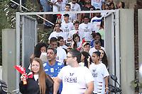 BELO HORIZONTE, MG, 12.04.2015/ Sada Cruzeiro x Sesi-SP torcida do SESI-SP chgando para a grande final  da Superliga Masculina de Volei,  no ginasio do Mineirinho, em Belo Horizonte, neste domingo, 12. (Foto: Doug Patricio / Brazil Photo Press).