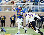 BROOKINGS, SD - NOVEMBER 16: Keaton Heide #13 of the South Dakota State Jackrabbits passes the ball against xxxxxxxx during their game Saturday afternoon at Dana J. Dykhouse Stadium in Brookings, SD. (Photo by Dave Eggen/Inertia)