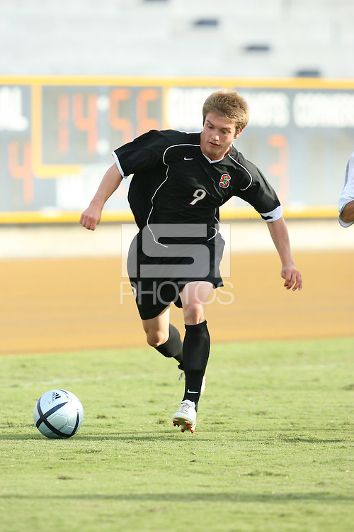 13 November 2005: Evan Morgan during Stanford's 4-1 loss to California at Edwards Stadium in Berkeley, CA.