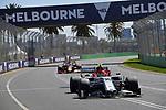 15.03.2019, Albert-Park, Melbourne, FORMULA 1 ROLEX AUSTRALIAN GRAND PRIX 2019<br /> , im Bild<br />Antonio Giovinazzi (ITA#99), Alfa Romeo Racing, Max Verstappen (NEL#33), Aston Martin Red Bull Racing<br /> <br /> Foto &copy; nordphoto / Bratic